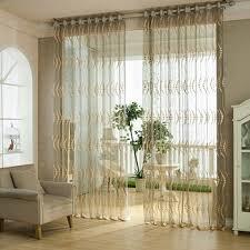 rideau pour chambre 1 pièce points jacquard voilage pour salon tulle fenêtre rideau pour