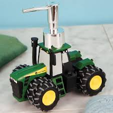 john deere tractor shaped soap or lotion dispenser tractor