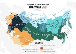 Map Russia Russia Seen From The West U2013 Atlas Of Prejudice