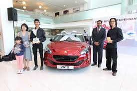 brand new peugeot peugeot u0027drive 2 win u0027 awards lucky winner a brand new peugeot rcz
