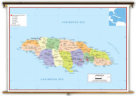World Map Jamaica by Jamaica Political Educational Wall Map From Academia Maps
