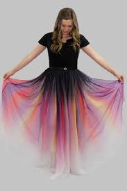 ombre dress odile ombre modest prom dress with sleeves