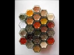 Spice Rack Empty Jars Magnetic Spice Rack 24 Empty Hexagonal Glass Jars Magnetic Gold