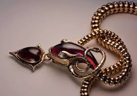 rose gold snake necklace images Mid 19th century garnet gold snake necklace for sale at 1stdibs jpeg