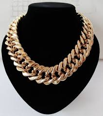 chunky chain pendant necklace images _ fishsheep statement big chunky chain choker necklace for jpg