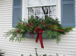 Christmas Decorations For Window Boxes by 34 Best Flower Boxes Images On Pinterest Christmas Window Boxes