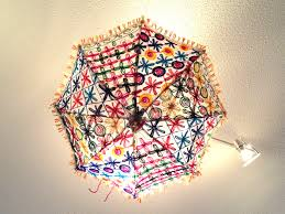 Home Decor India Ceiling Lampshade From India Fabric Umbrella Lamp Shade Colorful