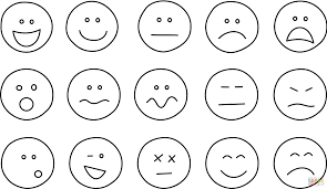 people emotions for coloring book emotion faces pages educations