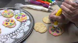Decorated Halloween Sugar Cookies by The Making Of Dia De Los Muertos Sugar Skull Cookies Youtube