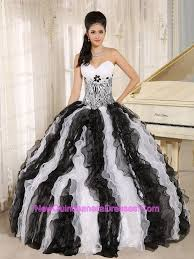 black and white quinceanera dresses ruffles white and black dress for sweet 16 birthday party 2015