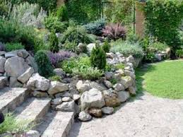 garden captivating rock garden designs excellent green round