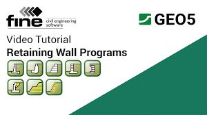 geo5 tutorials introduction retaining wall design programs