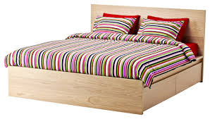 bedroom endearing malm queen high bed frame with four storage