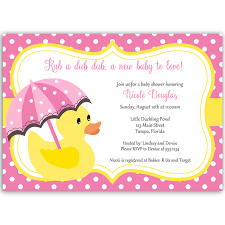 little duck pink baby shower invitation u2013 the invite lady