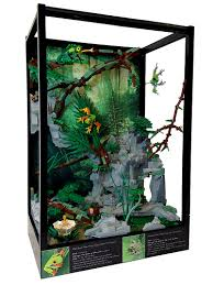 tropical rainforest terrarium with a running waterfall frontpage