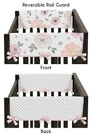 amazon com sweet jojo designs 2 piece blush pink grey and white