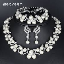 bridal earring necklace sets images Mecresh simulated pearl bridal jewelry sets jewellery design jpg