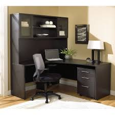 office desk l shaped with hutch modern espresso l shaped desk with hutch u0026 mobile pedestal
