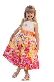 cotton flower printed flower dress