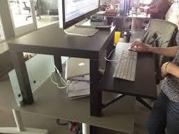 Ikea Stand Up Desks Ikea Standing Desks Build A Diy Wide Adjustable Height Ikea Desk