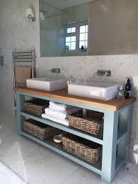 Wooden Vanity Units For Bathrooms Solid Oak Vanity Unit Washstand Bathroom Furniture Bespoke Rustic