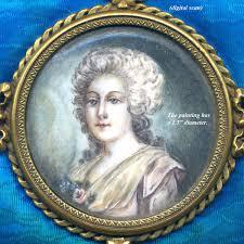Gilt Bonze Enameled Portrait Antique Gilt Bronze Guilloche Enamel Casket Portrait