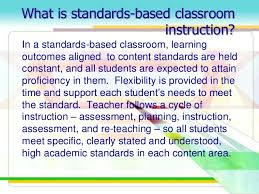 standards based assessment based on k 12 curriculum