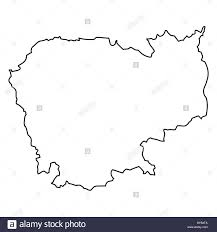Map Of Cambodia Outline Map Of Cambodia Stock Photo Royalty Free Image 34051370