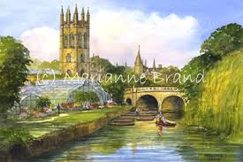 Botanical Gardens Oxford Paintings By Marianne Brand Oxford Magdalen College