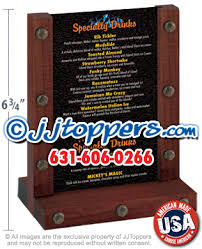 Table Tent Holders by Wooden Table Tents By Jjtoppers Com