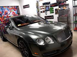 matte bentley black chrome wrap on a 2006 bentley coupe vehicle wraps 1