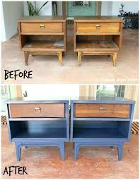 Painted Bedroom Furniture Before And After by Side Table Painted Bedroom Furniture Ideas Painted Bedside