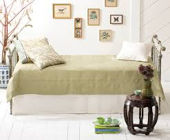 iron u0026 brass sleigh daybed vintage white shabby chic style