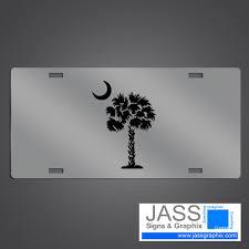 south carolina palm tree license plates with palmetto logo