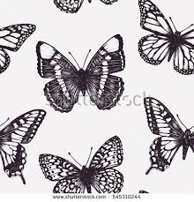 vector seamless pattern butterflies stock vector