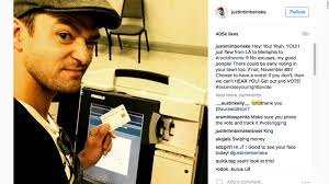 Justin Timberlake Not A Bad Thing Justin Timberlake Not In Trouble For Voting Selfie Cnn