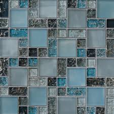 interesting ideas blue mosaic tile backsplash inspiring design
