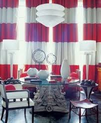use red and white curtains for a sophisticated and an elegant look