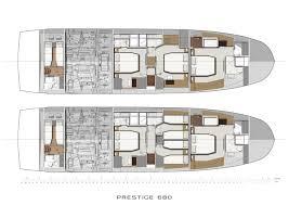 Luxury Yacht Floor Plans by 68 Prestige 2017