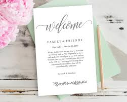 wedding welcome bag note silver wedding calligraphy welcome