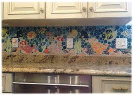 decorative ceramic tile custom hand made tropical fish tile