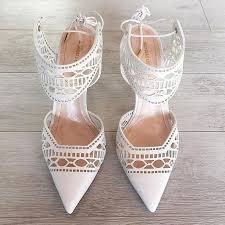 white wedding shoes for the 34 heavenly laser cut wedding shoes ideas weddingomania