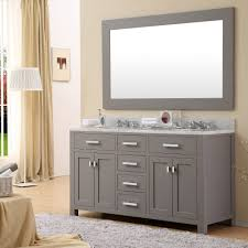 bathroom grey bathroom cabinet design ideas with wall mirror plus