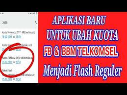 kuota bbm dan fb telkomsel aplikasi baru 2018 buat ubah kuota fb dan bbm menjadi flash reguler