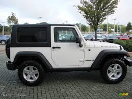 Wrangler 2009 Stone White 2009 Jeep Wrangler Rubicon 4x4 Exterior Photo
