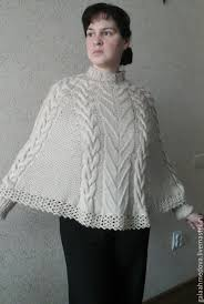 Handmade Poncho - knit poncho with cuffs thaw handmade shop on livemaster