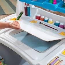 step 2 deluxe art desk step2 deluxe art desk with splat mat kohls