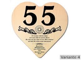 spr che zum 35 geburtstag geschenk zum 55 geburtstag herz holzschild mit wunschtext