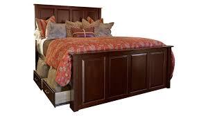 Storage Bed Henrietta Solid Wood Cherry King Storage Bed