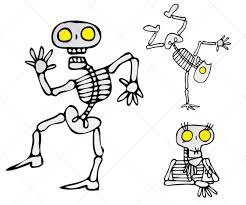 halloween cartoon image skeleton vector pack royalty free vectors for halloween projects